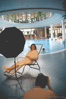 Wellness-Botschafterin Nicola Appel beim Fotoshooting im Berliner Hotel centrovital, Bildquelle: Benjamin Krauss,beauty24
