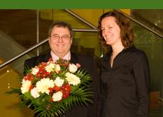 Roland Fricke / beauty24 und die Wellness-Botschafterin Nicola Appel. Bildquelle: Michael Steege,beauty24