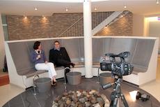 Entspannte Atmosph�re beim Video-Dreh im Vitambiance, dem neuen SPA des Dorint Hotel-Park Ambiance. Quelle: beauty24
