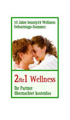 """10 Jahre beauty24 Wellness - Geburtstags-Sommer """"2f�r1 Wellness"""" / Quelle: beauty24"""