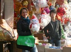 Blinkende Weihnachtsfreude in China / Quelle: Julia Jung