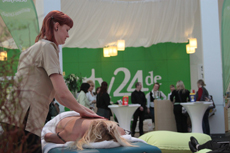 beauty24 pr�sentiert an den ITB-Fachbesuchertagen ein entspannedes Wellness-Programm in der Wellness-Lounge - Halle 16! Quelle: beauty24 GmbH