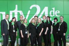 Das beauty24-Team zur ITB 2012. Quelle: beauty24 GmbH