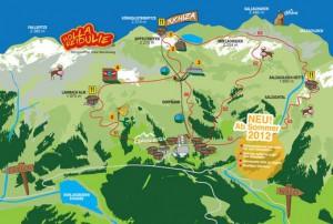 5 Erlebnis-Stationen garantieren einen spaßigen Jodeltag an der frischen Bergluft / Quelle: www.jodelweg.at