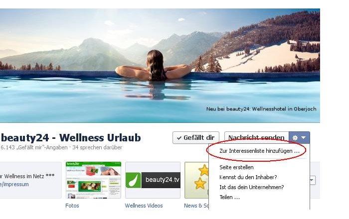 beauty24 Wellness-Urlaub auf Facebook