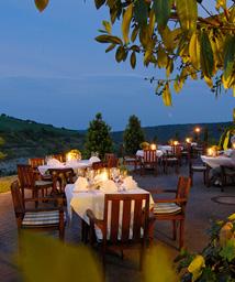 Mediterrane Abendstimmung in Beckstein