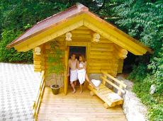 Die Blockhaussauna des Wellnesshotels in Badenweiler / Südschwarzwald. Quelle: beauty24 GmbH, Wellness-Hotel in Badenweiler ****s