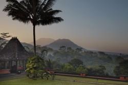 Blick über auf den Tropenzauber Indonesiens