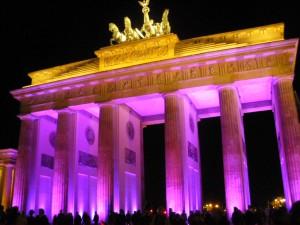 Auch das Brandenburger Tor erstrahlt im Lichterschein