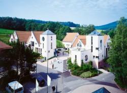Das Wellness-Hotel in der Rhön mit Blick auf die Umgebung