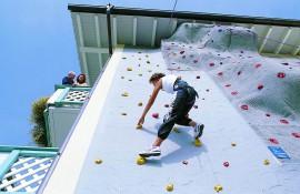 Kletterwand im Sport- & Wellnesshotel in St. Englmar