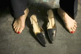 Schuhe an - Schuhe aus
