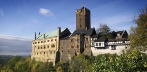 Wartburg über Eisenach in Thüringen