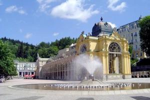 Die schönen Fontänen in Marienbad