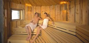 Entspannung zu Zweit in der Sauna