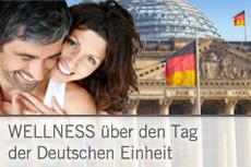 Sichern Sie sich rechtzeitig ein verlängertes Wellness Wochenende über den 3. Oktober! Bildhinweis Paar: © Yuri Arcurs / fotolia.com