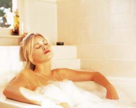 Stressabbau in der Badewanne