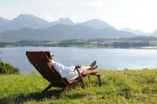 Entspannung in der Sonne in Hopfen am See