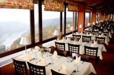 Das Panoramarestaurant des Hotels