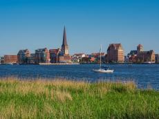 Blick über die historische Hansestadt Rostock