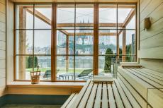 Panorama-Sauna mit Blick auf die Albrechtsburg