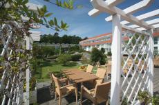 Lassen Sie die Seele auf der hauseigenen Terrasse baumeln. Quelle: Wohlfühlhotel in Graal-Müritz, Ostsee - beauty24 GmbH