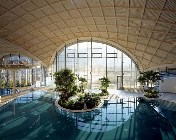 Die Therme bietet einen hervorragenden Ausblick / Quelle: Wellnesshotel in Bad Sulza; beauty24 GmbH