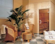 Eingangsbereich zur Sauna des Hotels. Quelle: Wellness in Potsdam, Golm - beauty24 GmbH