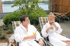 Entspannen Sie auf der gro�en Dachterrasse / Quelle: Wellness in Berlin-Spandau; beauty24 GmbH