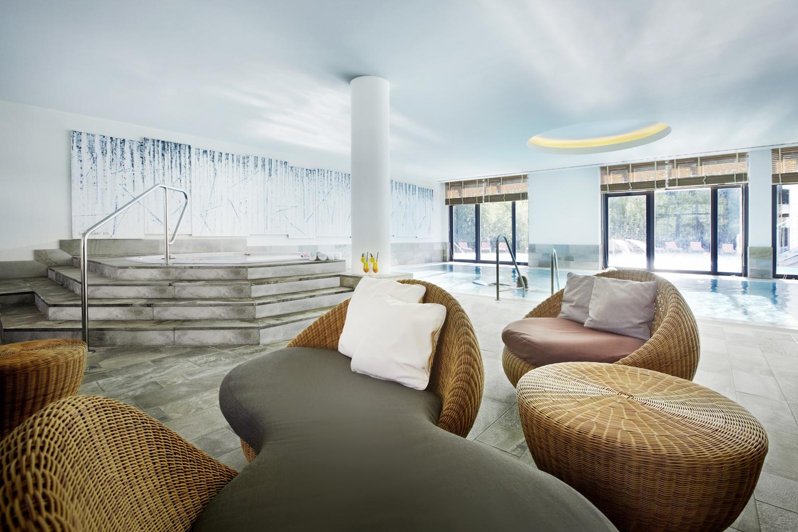 Der 3.500 qm große Wellnessbereich sorgt für Erholung vom Alltag / Quelle: Wellness-Resort in Bad Saarow; beauty24 GmbH