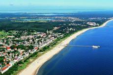 Blick auf den Strand und die Seebrücke Heringsdorf. Quelle: Wellness in Heringsdorf, Usedom - beauty24 GmbH