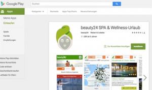Durch die neue Wellness App von beauty24 für Android Endgeräte lassen sich die Weihnachtseinkäufe einfach und komfortabel erledigen. Quelle: beauty24 GmbH