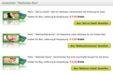 Wellness-Gutschein in der Box jetzt mit weihnachtlichen Motiven verfügbar! Quelle: beauty24 GmbH