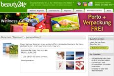 Wellness-Gutschein ab sofort mit weihnachtlichen Motiven erhältlich. Quelle: beauty24 GmbH
