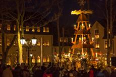 Blick auf den Wiesenthaler Adventsmarkt.