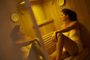 Schalten Sie bei einem ausgiebigen Saunagang ab. Quelle: Wellness-Hotel in Bad Wildungen - beauty24 GmbH