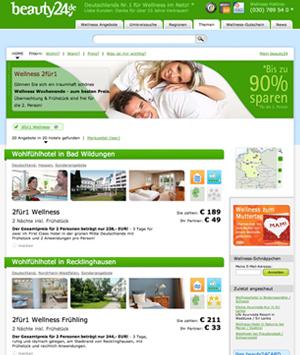 2für1 Wellness verwöhnt nicht nur einen selbst, sondern auch das Portemonnaie! Quelle: beauty24 GmbH