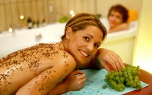 Wellness und Weintrauben - das harmoniert! Quelle: Romantikhotel & SPA im Nahetal - beauty24 GmbH