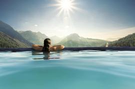 Ausspannen im Panoramapool - Bildhinweis: © Wellnesshotel in Oberjoch / beauty24 GmbH