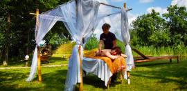 Outdoor-Wellness - Bildhinweis: � Wellnessdorf in der Lueneburger Heide / beauty24 GmbH