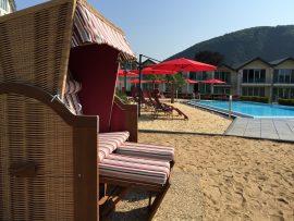 Am Strand lässt es sich vorzüglich entspannen Bildhinweis: © Wellnesshotel an der Mosel / Eifel; beauty24 GmbH