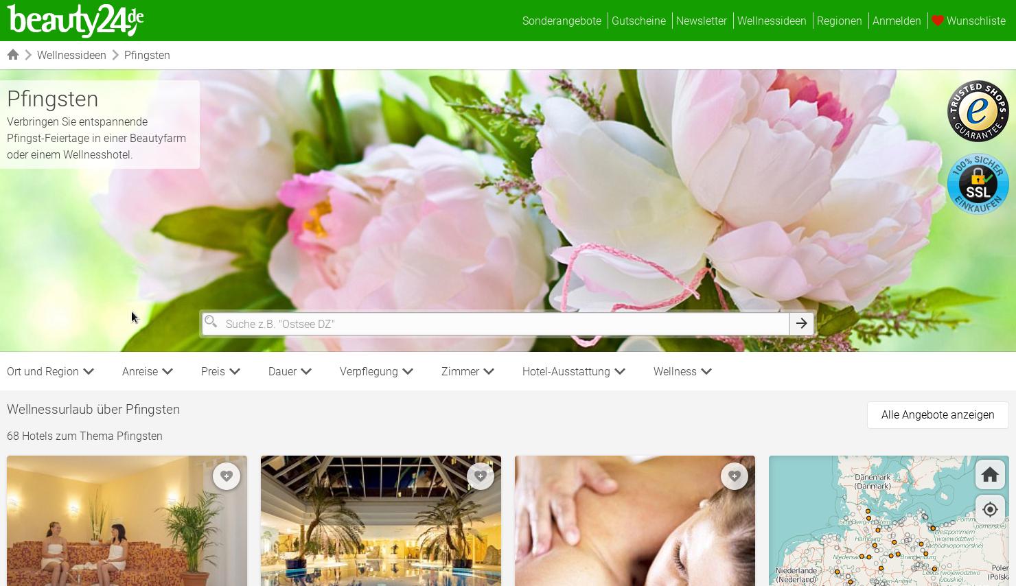 Tolle Angebote zu Pfingsten! Bildhinweis: © beauty24 GmbH