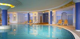 Im Poolbereich können Sie entspannen. Bildhinweis: © Wohlfühlhotel in Bad Gögging; beauty24 GmbH
