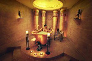 Im Milchbad entspannen; Quelle: Wellnesshotel in Rostock - beauty24 Gmbh